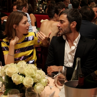 Sophia Coppola and Marc Jacobs attend amfARs Inspiration Paris Gala 2012