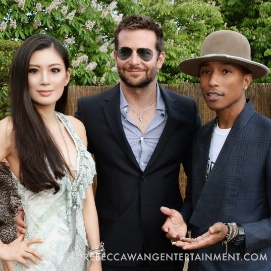 Rebecca Wang Bradley Cooper and Pharrell Williams attend the serpentine summer party 2013