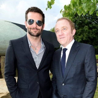 Bradley Cooper and event chair François-Henri Pinault attend the serpentine summer party 2013