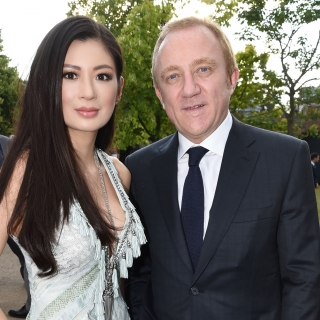 Rebecca Wang and event chair François-Henri Pinault attend the serpentine summer party 2013