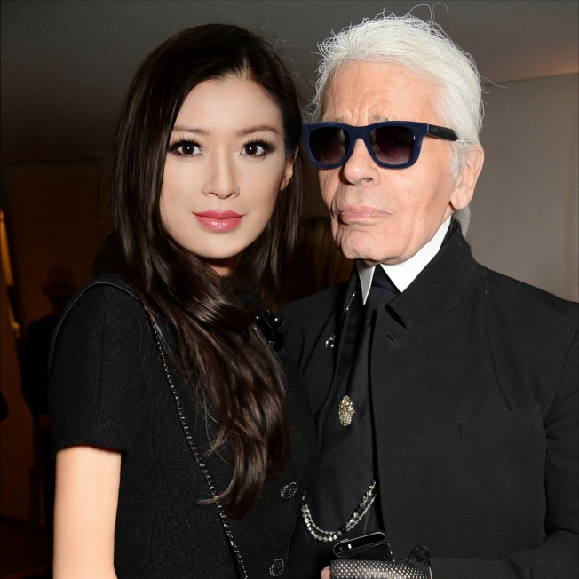 Rebecca Wang and Karl Lagerfeld Paris 2014