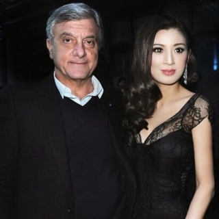 Rebecca Wang and Dior President Sidney Toledano @ Dior fashion show Paris 2013