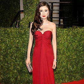 Rebecca Wang at Vanity Fair party on Oscars night.