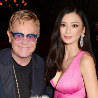 Rebecca Wang supports EJAF at Windsor home of Elton John to benefit aids foundation.